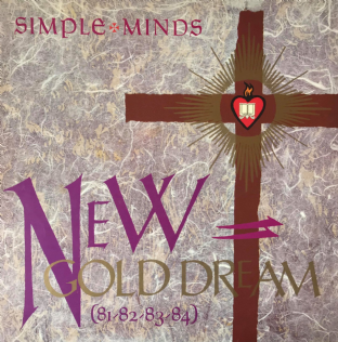 Simple Minds ‎- New Gold Dream (81-82-83-84) (LP) (G/VG)